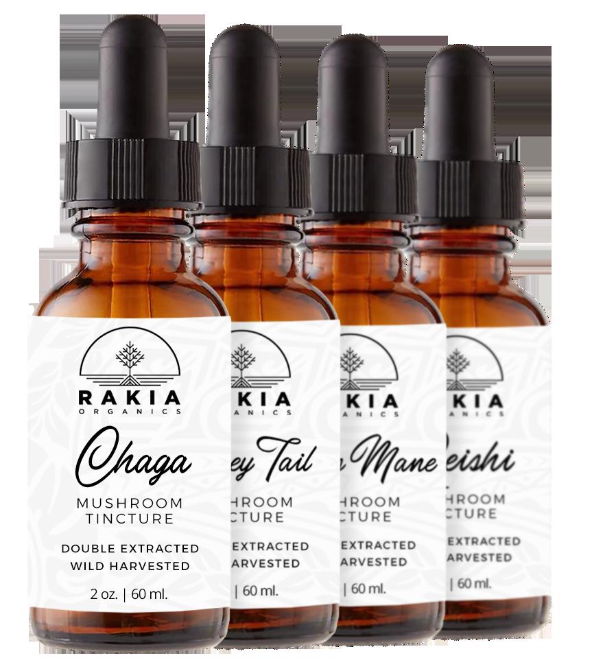 Mushroom Tincture Sale | Rakia Organics