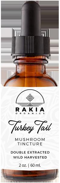 Turkey Tale Mushroom Tincture For Sale - Rakia Organics